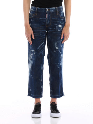 Dsquared2: Boyfriend online - Frayed bottom detail jeans