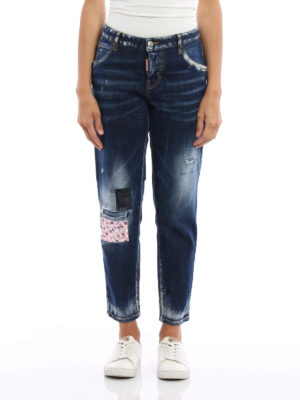 Dsquared2: Boyfriend online - Hockney long crotch jeans