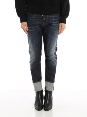 Dsquared2: Boyfriend online - London spotted jeans