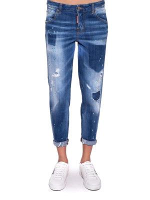 Dsquared2: Boyfriend online - Low waist boyfriend denim jeans