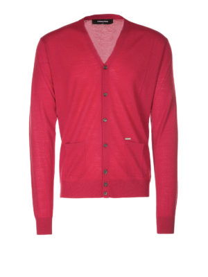 Dsquared2: cardigans - Red wool cardigan