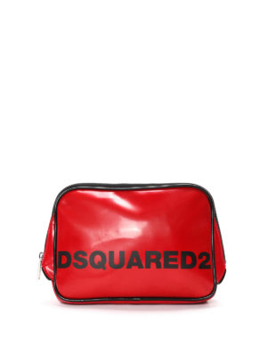 Dsquared2: Cases & Covers - Faux leather logo pouch