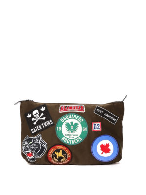 Dsquared2: Cases & Covers - Multi patches nylon pouch