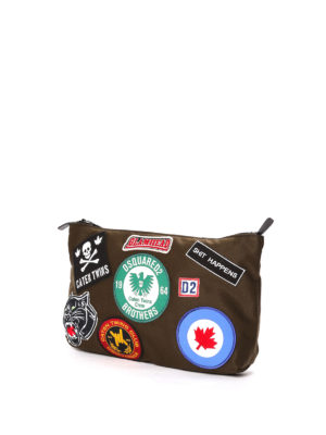 Dsquared2: Cases & Covers online - Multi patches nylon pouch