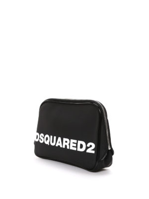 Dsquared2: Cases & Covers online - Rubberized satin logo pouch