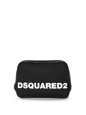 Dsquared2: Cases & Covers - Rubberized satin logo pouch