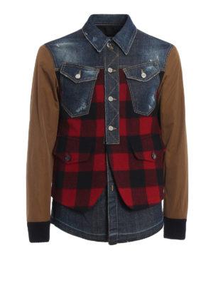 Dsquared2: casual jackets - Denim Buffalo Check jacket