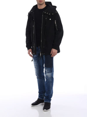 Dsquared2: casual jackets online - Nylon twill technical jacket