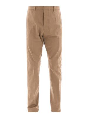 DSQUARED2: pantaloni casual - Pantaloni chino in cotone beige