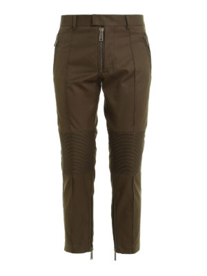 Dsquared2: casual trousers - Biker inserts crop trousers