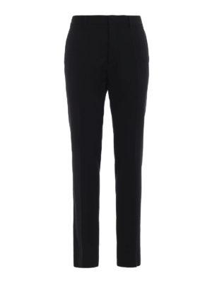 DSQUARED2: pantaloni casual - Pantaloni chino in twill di lana
