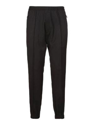 DSQUARED2: pantaloni casual - Pantaloni neri con elastico in vita