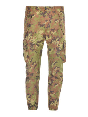 Dsquared2: casual trousers - Camu cargo trousers