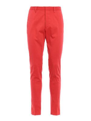 Dsquared2: casual trousers - Cotton drill chino trousers