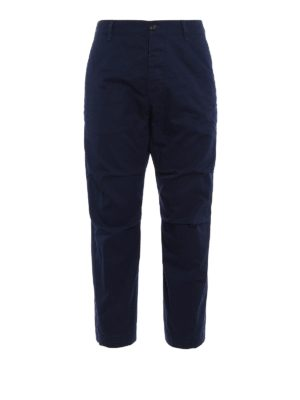 Dsquared2: casual trousers - Cotton twill cropped chino trousers