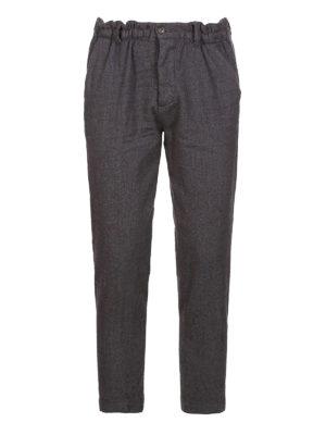 DSQUARED2: pantaloni casual - Pantaloni Dan Elastic Fit in lana
