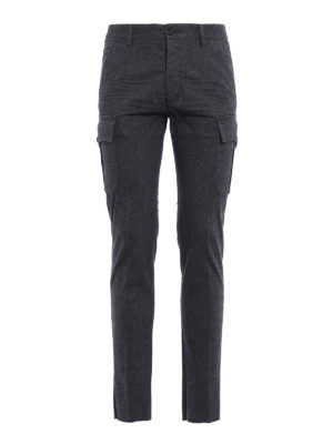 Dsquared2: casual trousers - Flannel cargo trousers
