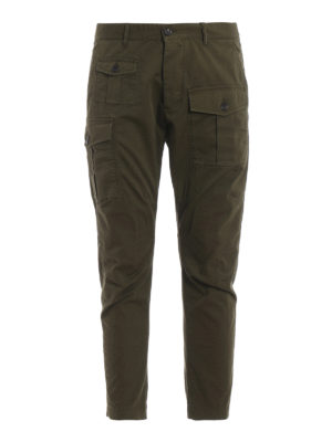 DSQUARED2: casual trousers - Green Sexy Cargo trousers