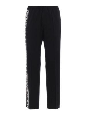 DSQUARED2: pantaloni casual - Pantaloni Gym Fit in misto lana