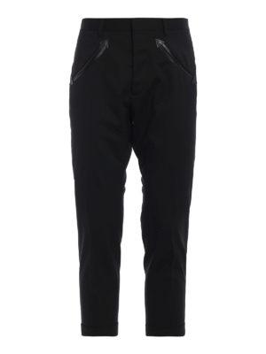 DSQUARED2: pantaloni casual - Pantaloni Hockney Fit in lana stretch