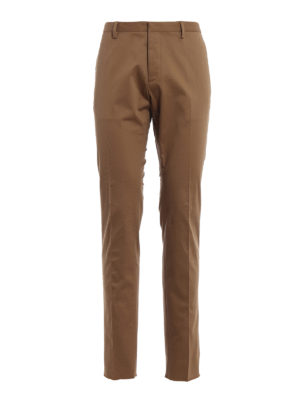 Dsquared2: casual trousers - Light brown twill chino trousers