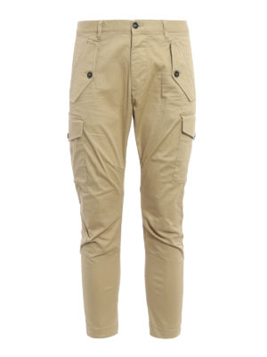 Dsquared2: casual trousers - Multi-pocket cargo crop trousers