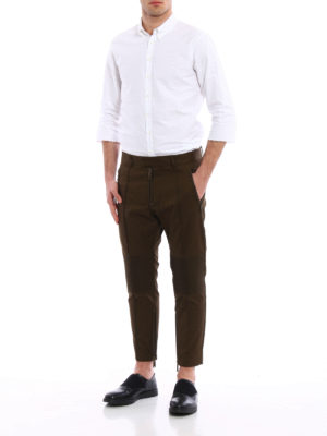 Dsquared2: casual trousers online - Biker inserts crop trousers