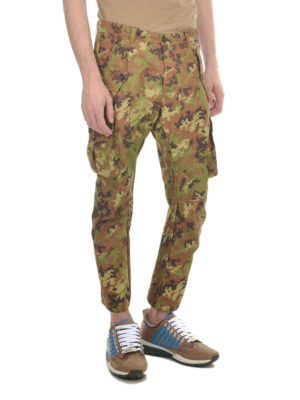 Dsquared2: casual trousers online - Camu cargo trousers