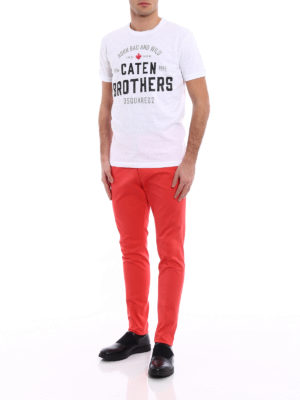 Dsquared2: casual trousers online - Cotton drill chino trousers