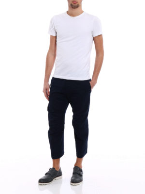 Dsquared2: casual trousers online - Cotton twill cropped chino trousers