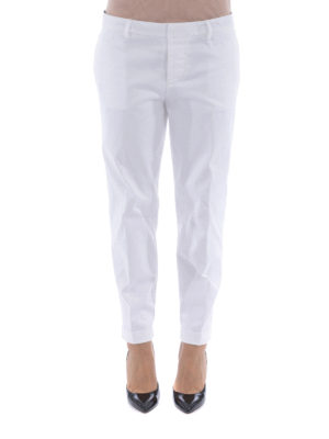 Dsquared2: casual trousers online - Cotton twill trousers