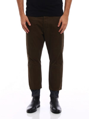 Dsquared2: casual trousers online - Denim detailed casual trousers
