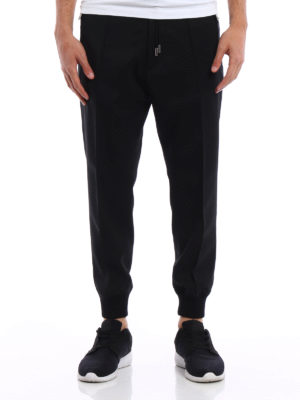 Dsquared2: casual trousers online - Elasticated bottom wool trousers
