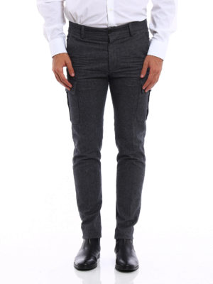 Dsquared2: casual trousers online - Flannel cargo trousers