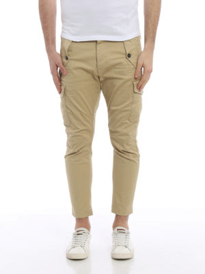 Dsquared2: casual trousers online - Multi-pocket cargo crop trousers