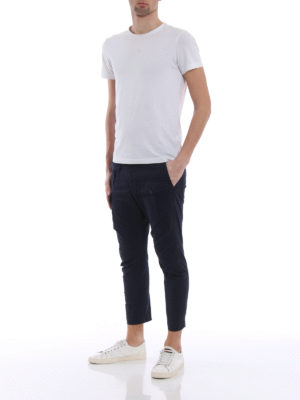 Dsquared2: casual trousers online - Navy blue cotton cargo trousers