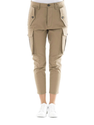 Dsquared2: casual trousers online - Sexy gabardine cargo trousers