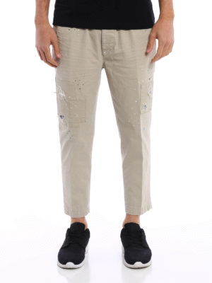 Dsquared2: casual trousers online - Spotted crop trousers