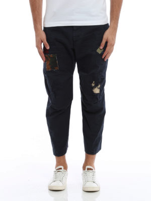 Dsquared2: casual trousers online - Worn out trousers with patches