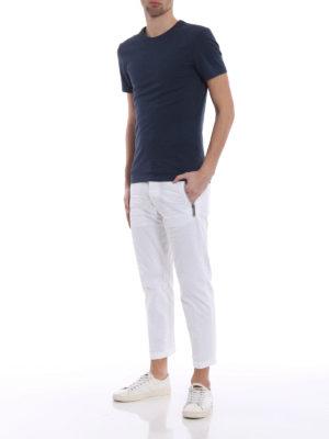 Dsquared2: casual trousers online - Zip detail white cotton slacks