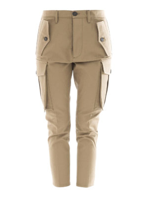 Dsquared2: casual trousers - Sexy gabardine cargo trousers