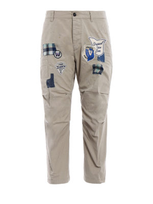 Dsquared2: casual trousers - Skipper Fit campsite patch trousers