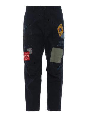 DSQUARED2: pantaloni casual - Chino Skipper Fit con macchie e toppe