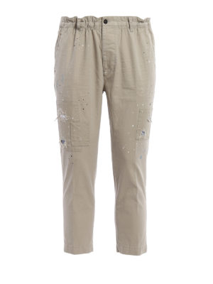 Dsquared2: casual trousers - Spotted crop trousers