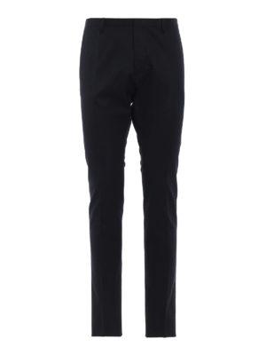DSQUARED2: pantaloni casual - Pantaloni chino Tidy Fit in cotone blu