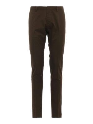 DSQUARED2: pantaloni casual - Pantaloni chino Tidy Fit in cotone