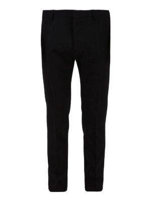 DSQUARED2: pantaloni casual - Pantaloni in misto lana e viscosa con piega