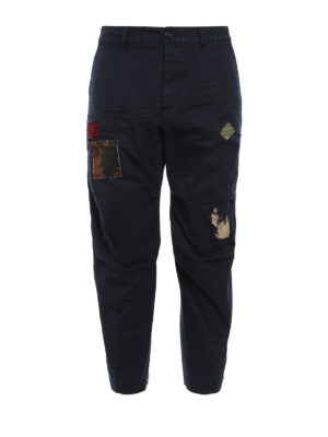 Dsquared2: casual trousers - Worn out trousers with patches