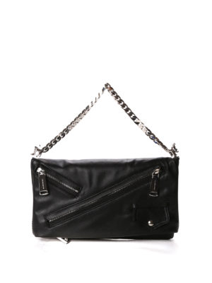 Dsquared2: clutches - Babe Wire chain leather clutch