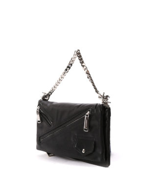 Dsquared2: clutches online - Babe Wire chain leather clutch